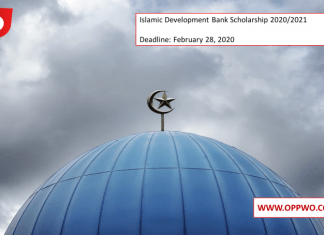 Islamic Development Bank Scholarship 2020/2021