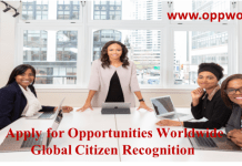 Apply for Opportunities Worldwide Global Citizen Recognition