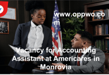 Vacancy for Accounting Assistant at Americares in Monrovia