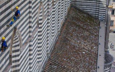 EdiliziAcrobatica termina i lavori sul tetto del Duomo di Orvieto