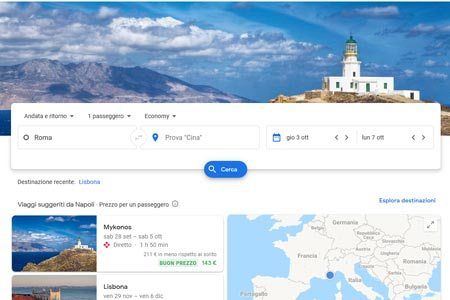 Google Flights Ricerca Voli