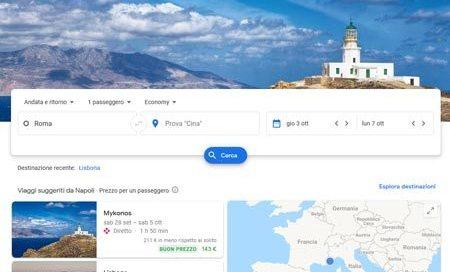 Google Flights Ricerca Voli