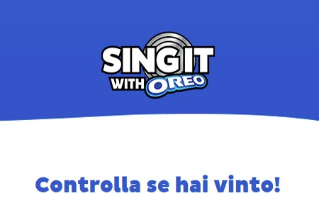 Concorso Sing It With Oreo