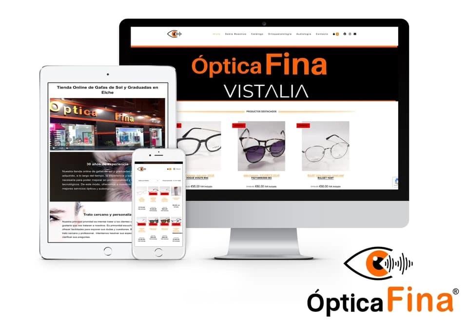 Página web para opticas elche
