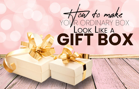 How to make your ordinary box look like a gift box?