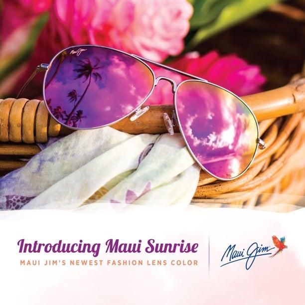 """Foto eines Maui Jim Modells mit der Verspiegelung """"Maui Sunrise"""""""