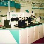 Optikos's booth at a European trade show