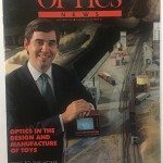 Stephen Fantone makes the cover of Optics News, 1989