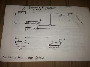 Simple Wiring Diagram to Bypass Foglights (Works wo Headlights or w Highbeams)