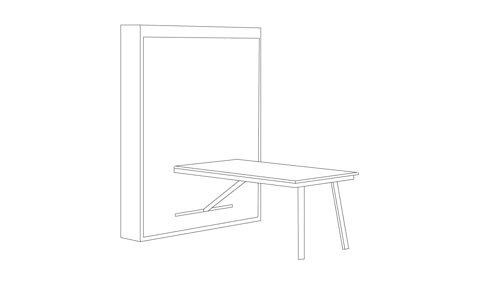 lit escamotable bureau et table gain