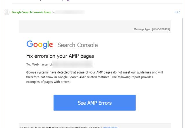 Chyby v AMP