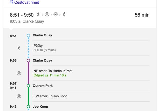 Vyhledávání cesty v Google