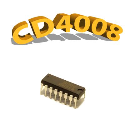 CD4008BE- Binary Full Adder, 3 V à 15 V, DIP-14, CD4008, 4008