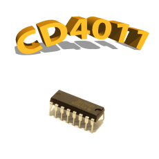 CD4011BE - Porte NON-ET, 3 V à 15 V, DIP-14 , CD4011