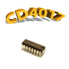 CD4017BE - Compteur Décade/ Diviseur, 11 MHz, 3V à 15 V, DIP-16