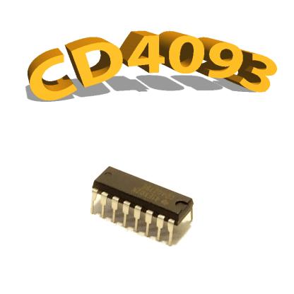 CD4093BE- Trigger de Schmitt / Porte NON-ET, 3 V à 15 V, DIP-14, CD4093, 4093
