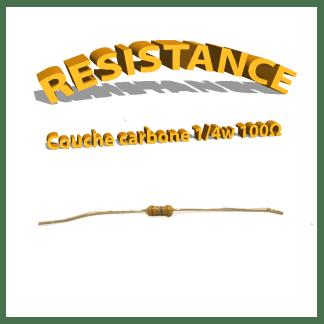 Résistance 100 ohm à couche Carbone 1/4W