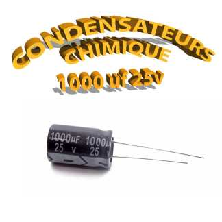 Condensateur chimique 1000uF 25V