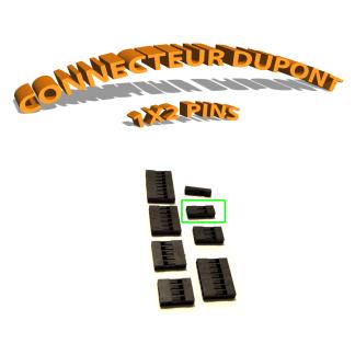 Connecteur Dupont 1x2 Pins