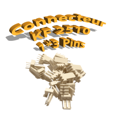 Connecteurs KF2510 3 Pins mâle