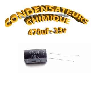 Condensateur chimique 470uF 35V