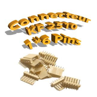 Connecteurs KF2510 6 Pins Mâle