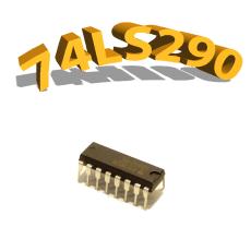 74LS290 - COMPTEUR BINAIRE 4 BITS - DIP14