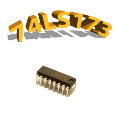 74LS173- REGISTRE DE 4 BITS AVEC SORTIES 3-ETATS- DIP16