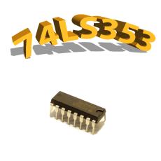 74LS353- DUAL 4-INPUT MULTIPLEXER - DIP16