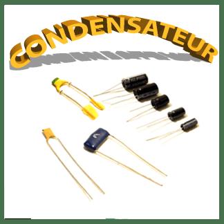 Condensateurs chimiques, céramiques, plastiques...