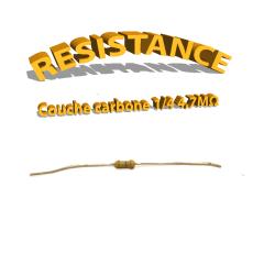 Résistance 4,7 Mohm à couche Carbone 1/4W