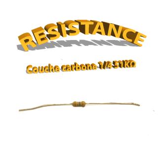 Résistance 51 kohm à couche Carbone 1/4W