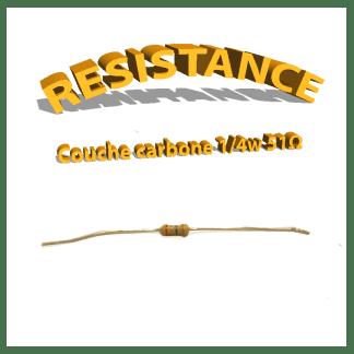 Résistance 51 ohm à couche Carbone 1/4W