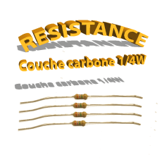 Résistance à couche carbone 1/4w
