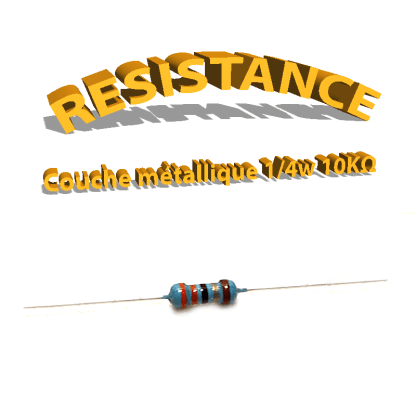 Résistance 10 kohm métallique