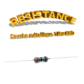 Résistance 68 ohm métallique
