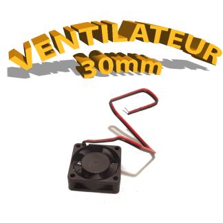Ventilateur 30mm - 5V - 10mm d'épaisseur