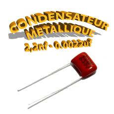 Condensateur à film 2,2nF 0.0022uf 630V