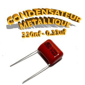 Condensateur à film 330nF 0.33uf 630V