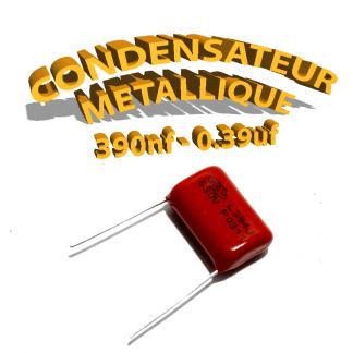 Condensateur à film 390nF 0.39uf 630V