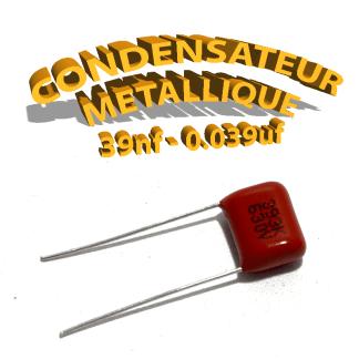 Condensateur à film 39nF 0.039uf 630V