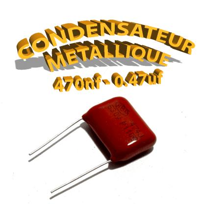 Condensateur à film 470nF 0.47uf 630V