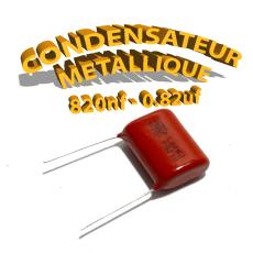 Condensateur à film 820nF 0.82uf 630V