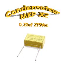 Condensateur Polypropylène 220nf .22uf MKP x2 275Vac