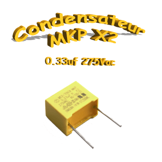 MKP x2 0.33uf 275Vac 330nf