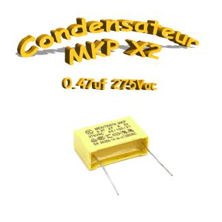 Condensateur Polypropylène 470nf 0,47uf MKP x2 275Vac