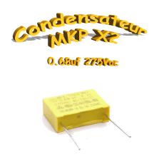 Condensateur Polypropylène 680nf 0.68uf MKP x2 275Vac