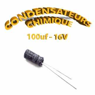 Condensateur chimique 100uF 16V