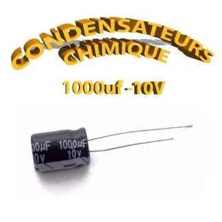 Condensateur chimique 1000uF 10V
