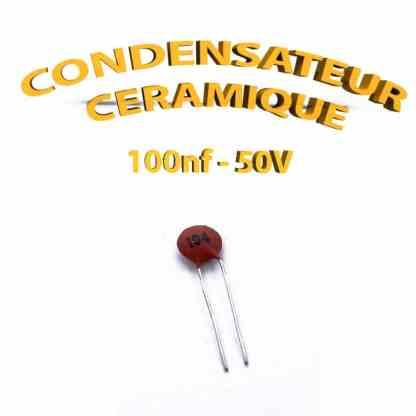 Condensateur Céramique 100nf - 104 - 50V